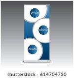 creative roll banner template... | Shutterstock .eps vector #614704730