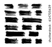 black vector brush strokes of... | Shutterstock .eps vector #614705639
