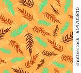 seamless pattern wiht tropical...   Shutterstock .eps vector #614705810