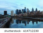 a view of philadelphia skyline | Shutterstock . vector #614712230