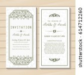 wedding invitation card sweet... | Shutterstock .eps vector #614712260