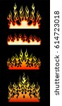 flame vector isolated set.... | Shutterstock .eps vector #614723018
