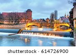 nuremberg  germany at bridge. | Shutterstock . vector #614726900