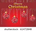 merry christmas background with ... | Shutterstock .eps vector #61472848