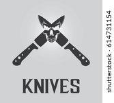 knives background | Shutterstock .eps vector #614731154