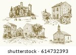 italy  traditional rural houses....   Shutterstock .eps vector #614732393