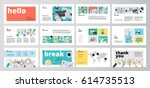business presentation templates.... | Shutterstock .eps vector #614735513
