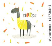cute hand drawn card  postcard... | Shutterstock .eps vector #614736848