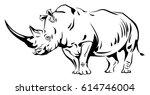 Vector Image Of A Rhino
