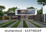 3d rendering of tropical house... | Shutterstock . vector #614748269