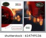 design a brochure template ... | Shutterstock .eps vector #614749136