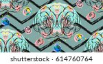 hand drawn vector abstract... | Shutterstock .eps vector #614760764
