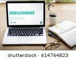 job career hiring recruitment... | Shutterstock . vector #614764823