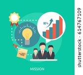 mission conceptual design | Shutterstock .eps vector #614767109