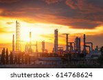 oil refiery plant  and chemical ... | Shutterstock . vector #614768624
