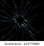 broken glass dark background | Shutterstock . vector #614770880