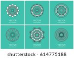 simple mandalas collection.... | Shutterstock .eps vector #614775188