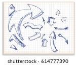 set of arrows | Shutterstock .eps vector #614777390