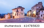 Small photo of Traditional residential quarter with illumination in evening in Albaida