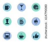vector illustration set of... | Shutterstock .eps vector #614790080