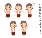 vector set of middle age...   Shutterstock .eps vector #614790116