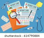 folder with patient card and... | Shutterstock .eps vector #614790884