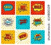retro sales icon vector card... | Shutterstock .eps vector #614800109