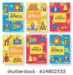 south africa vector brochure... | Shutterstock .eps vector #614802533