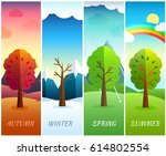 12 months of the year. weather... | Shutterstock .eps vector #614802554