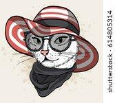 vector color sketch of elegant... | Shutterstock .eps vector #614805314