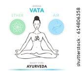 vata dosha   ayurvedic physical ... | Shutterstock .eps vector #614806358