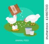 animal feed design | Shutterstock .eps vector #614807033