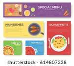 cooking information cards set.... | Shutterstock .eps vector #614807228