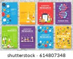 science information cards set.... | Shutterstock .eps vector #614807348