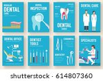 dental office interior... | Shutterstock .eps vector #614807360
