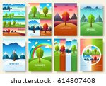 12 months of the year. weather... | Shutterstock .eps vector #614807408