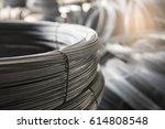 steel wire tie in construction... | Shutterstock . vector #614808548