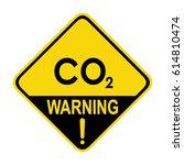carbon dioxide hazard sign ...   Shutterstock .eps vector #614810474