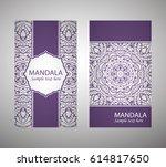 flyer  cover  pattern mandala.... | Shutterstock .eps vector #614817650