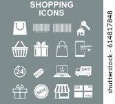shopping icons set. vector... | Shutterstock . vector #614817848