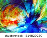 bright color motion composition.... | Shutterstock . vector #614820230