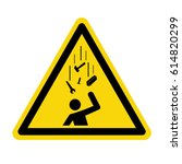 falling objects warning sign ... | Shutterstock .eps vector #614820299
