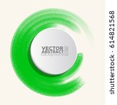 brush color watercolor round... | Shutterstock .eps vector #614821568