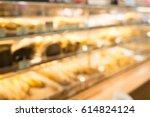 blurred background bakery shop. | Shutterstock . vector #614824124