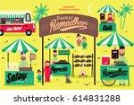 ramadhan bazaar template vector ... | Shutterstock .eps vector #614831288