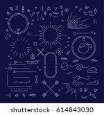 linear design elements in... | Shutterstock .eps vector #614843030