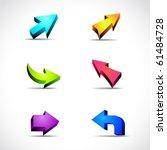vector arrows | Shutterstock .eps vector #61484728