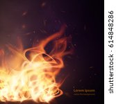 abstract vector background.... | Shutterstock .eps vector #614848286