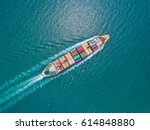 container container ship in... | Shutterstock . vector #614848880