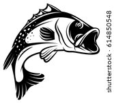 vector monochrome illustration... | Shutterstock .eps vector #614850548